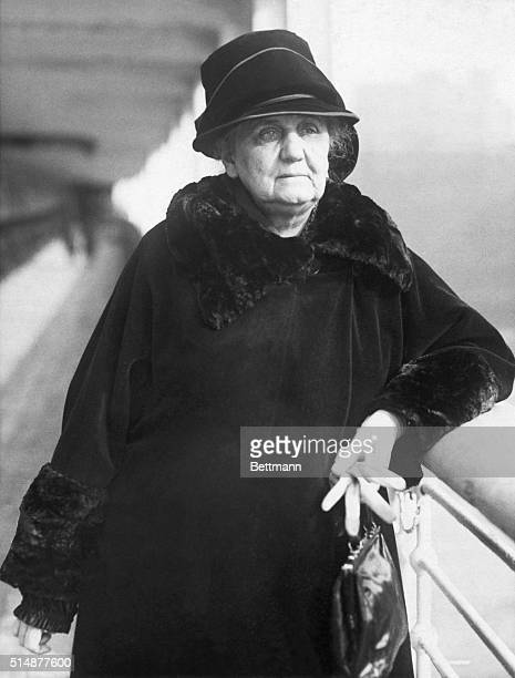 Portrait of Jane Addams American social settlement worker and peace advocate Undated photograph