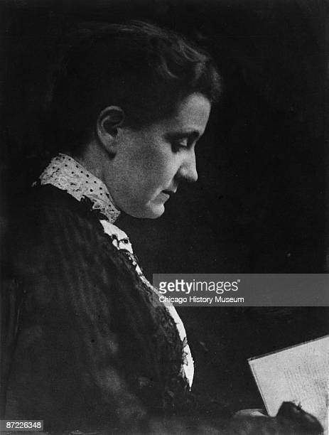 Portrait of Jane Addams social reformer and activist who cofounded Hull House Chicago 1892