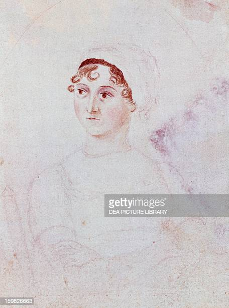 Portrait of Jane Austen British writer from the preRomantic period by Cassandra Austen ca 1810 watercolour and pencil 114x8 cm London National...