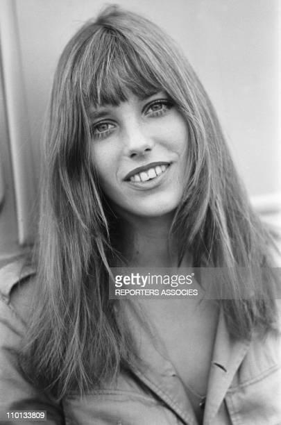 Portrait of Jane Birkin in 1970.