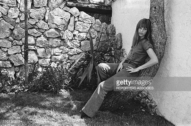 Portrait of Jane Birkin in 1970