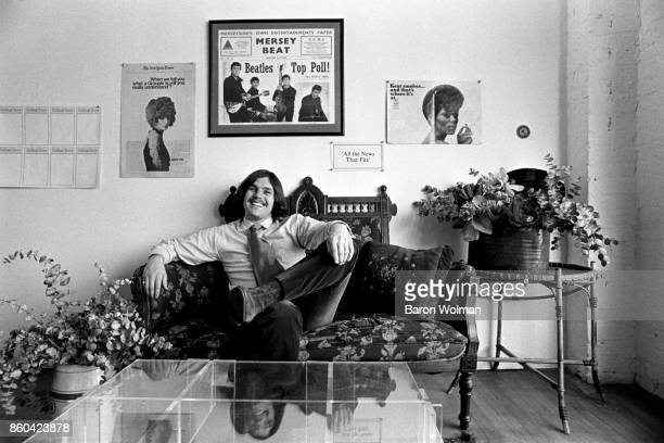 Portrait of Jann Wenner, founder and publisher of Rolling Stone magazine, in his office in San Francisco, 1969.