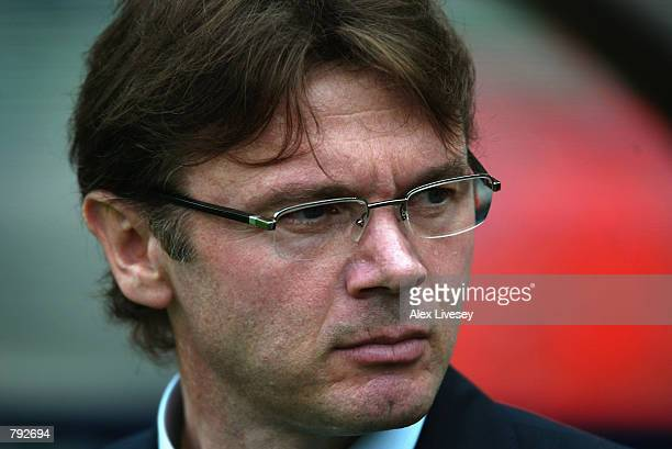 Portrait of Japan coach Philippe Troussier during the FIFA World Cup Finals 2002 Group H match between Japan and Tunisia played at the OsakaNagai...