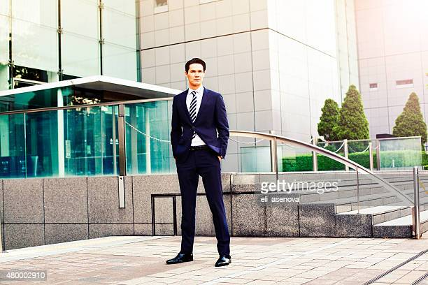 portrait of japanese businessman in tokyo - beautiful japanese models stock photos and pictures