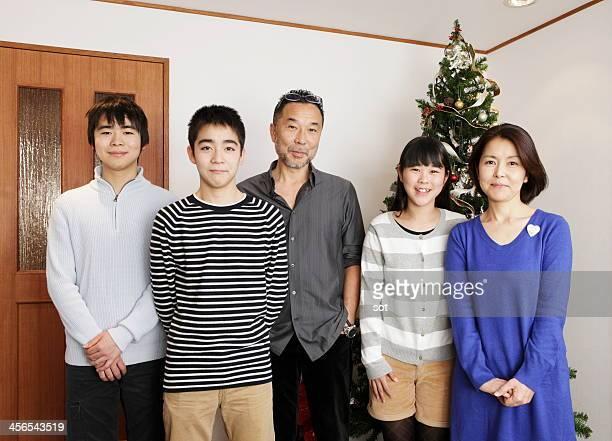 Portrait of Japanese family