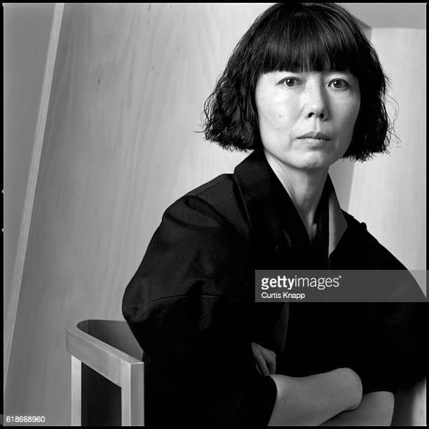 Portrait of Japanese fashion designer Rei Kawakubo Tokyo Japan 1987