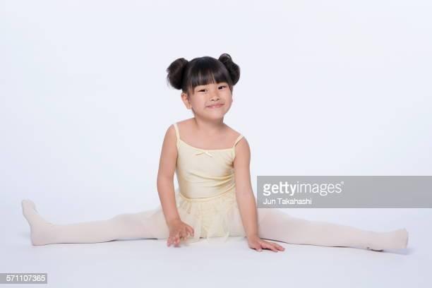 Asian girls spreading