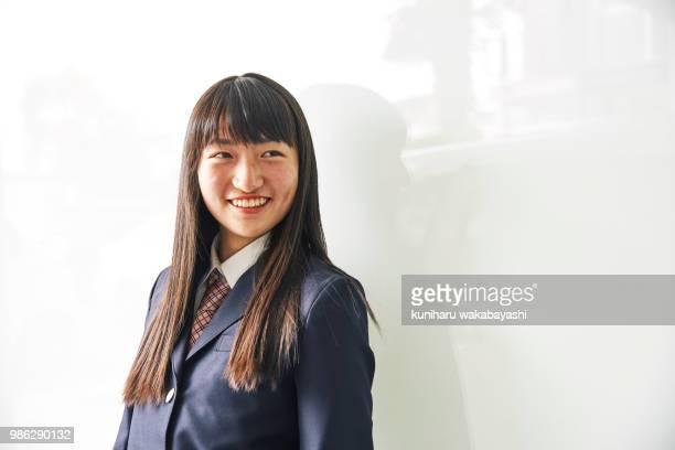 Portrait of japanese junior high school girls