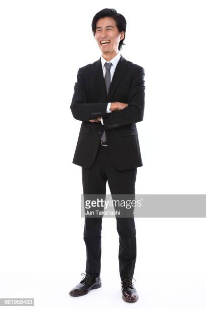 portrait of japanese man - black suit stock pictures, royalty-free photos & images