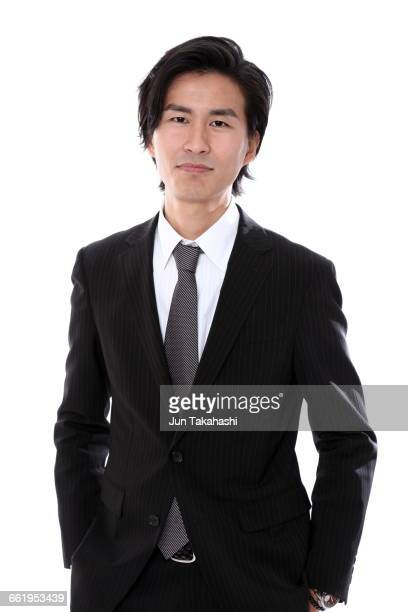 portrait of japanese man - black blazer stock pictures, royalty-free photos & images