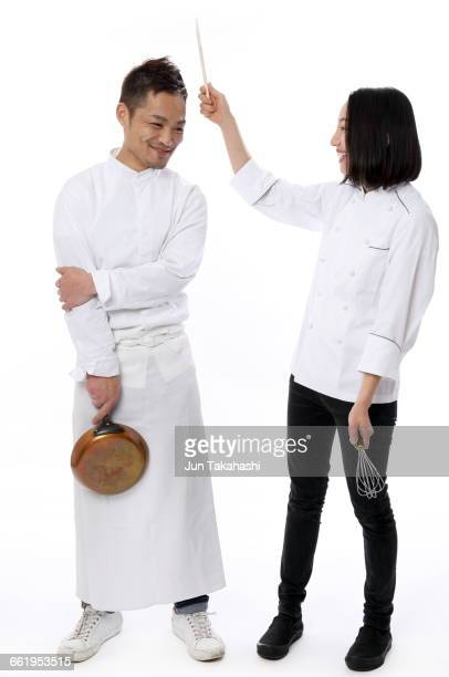 portrait of japanese man - women whipping men stock photos and pictures