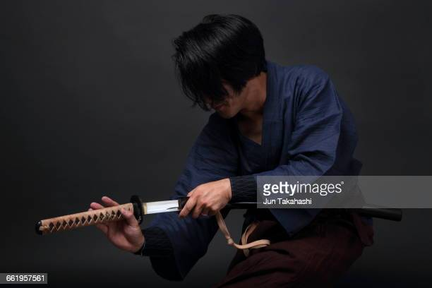 portrait of japanese man - martial arts stock pictures, royalty-free photos & images