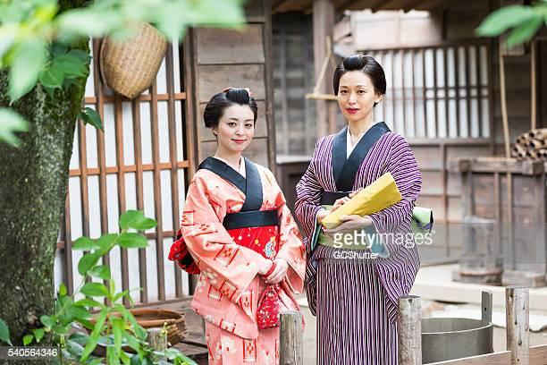 の肖像日本の母と娘 - edo period ストックフォトと画像