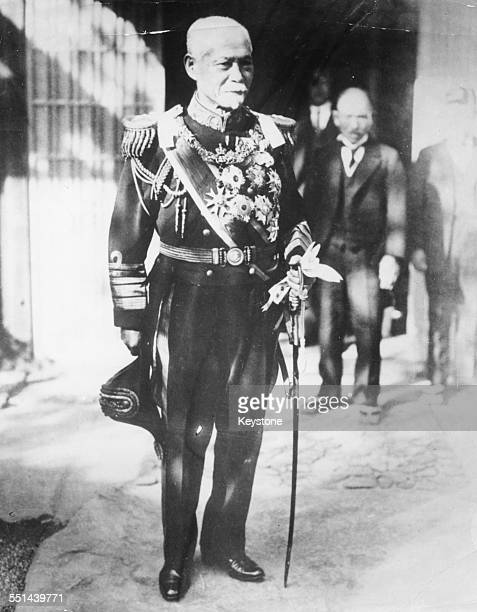 Portrait of Japanese Prime Minister Admiral Count Gombei Yamamoto in ceremonial uniform circa 1923