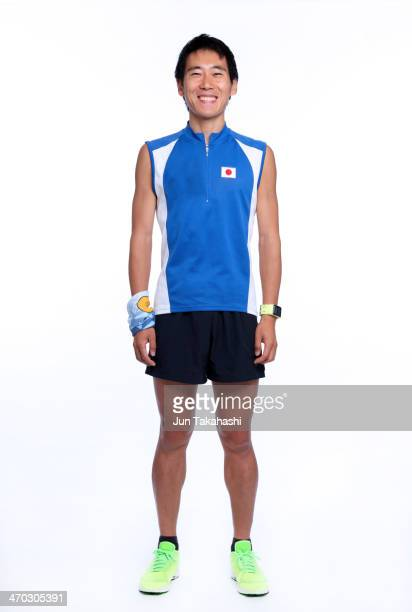 portrait of japanese runner - スポーツウェア ストックフォトと画像