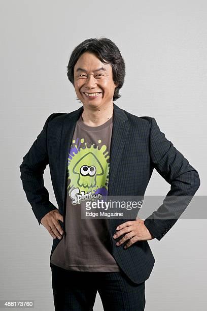 Portrait of Japanese video games designer and producer Shigeru Miyamoto photographed at Nintendo headquarters in Kyoto Japan on July 25 2014 Miyamoto...