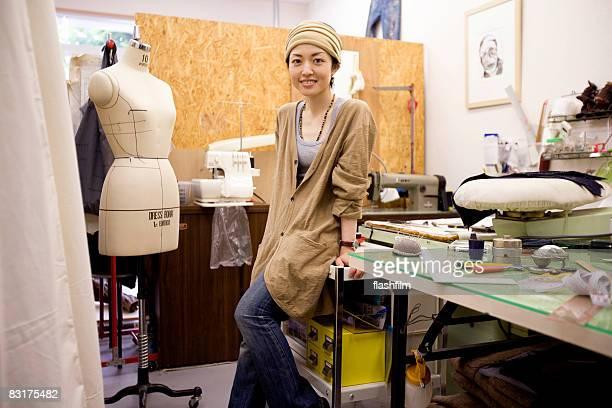 Portrait of Japanese woman in a studio