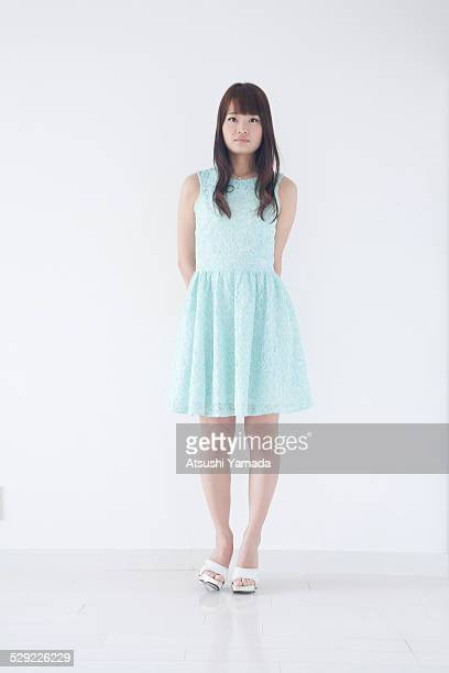 portrait of japanese woman - fringe dress stock pictures, royalty-free photos & images