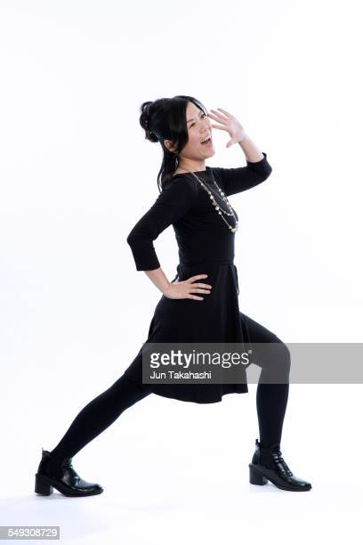 portrait of japanese woman - legs apart stock pictures, royalty-free photos & images