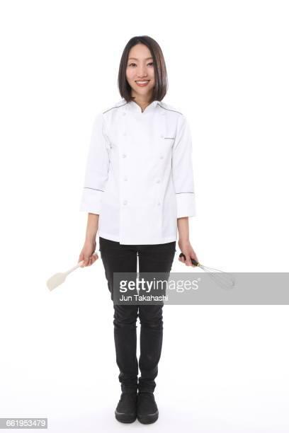 portrait of japanese woman - female whipping stock-fotos und bilder