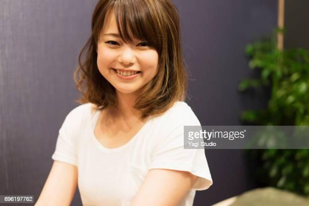 日本の女性の肖像画