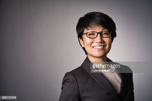 Portrait of Japanese Woman with Short hair
