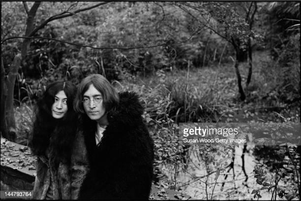 Portrait of Japaneseborn artist and musician Yoko Ono and British musican and artist John Lennon December 1968