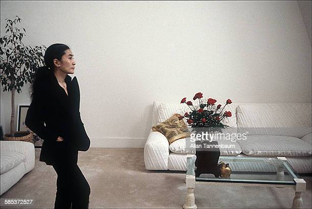 Portrait of Japaneseborn artist and musician Yoko Ono in her home at the Dakota Apartments New York New York February 22 1981