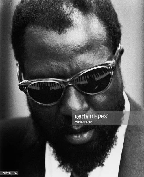 Portrait of jazz musician Thelonious Monk