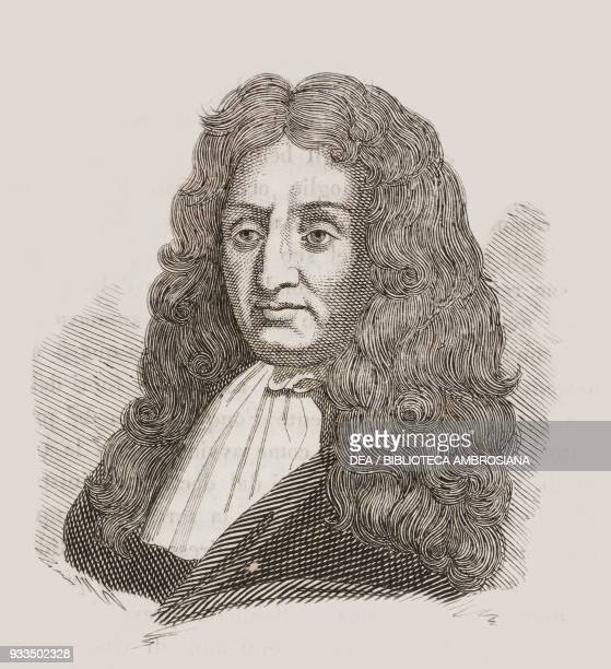 Portrait of Jean de La Fontaine French poet and fabulist engraving from L'album giornale letterario e di belle arti Thursday March 27 Year 1