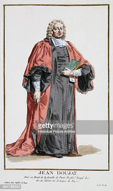 'Portrait of Jean Doujat Doctor of Law of the Faculty of the University of Paris by Pierre Duflos '