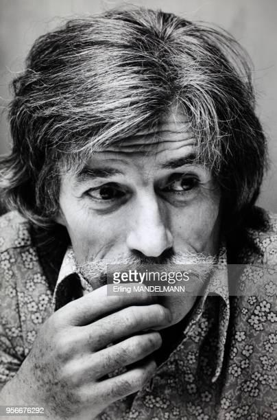 Portrait of Jean Ferrat in the eighties in France