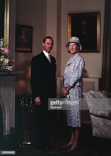 Portrait of Jean Grand Duke of Luxembourg standing next to the Grand Duchess Charlotte 1963 Washington DC