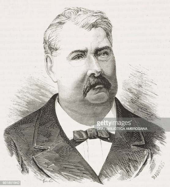Portrait of Jean Hippolyte de Villemessant , French journalist and director of Le Figaro, from a photograph by Nadar , engraving by Barberis from...