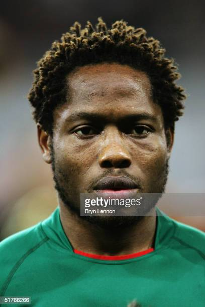 A portrait of Jean Makoun of Cameroon prior to the international friendly between Germany and Cameroon at Zentralstadion Leipzig on November 17 2004...