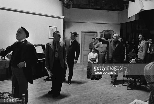 Portrait Of Jean Renoir During The Filming Of French Cancan 1954