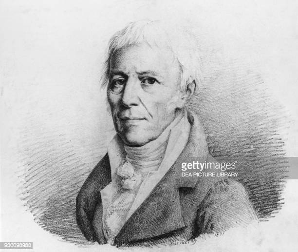 Portrait of JeanBaptiste Pierre Antoine de Monet Chevalier de Lamarck French naturalist zoologist biologist academic and a forerunner of Darwin's...