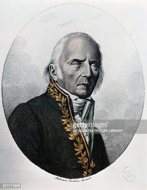 Portrait of JeanBaptistePierreAntoine de Monet de Lamarck French naturalist engraving by Ambroise Tardieu France 18th19th century Paris Hôtel...