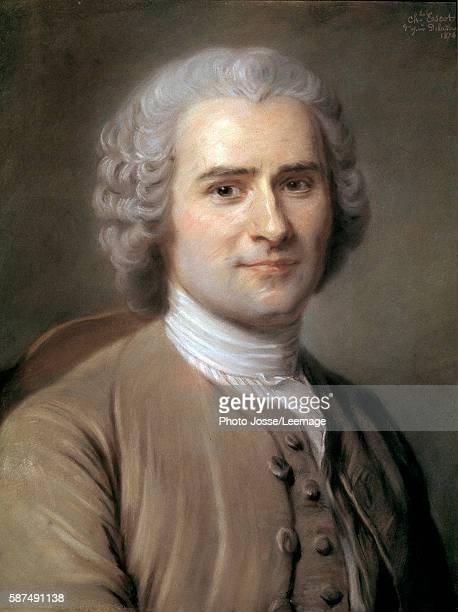 Portrait of JeanJacques Rousseau Swiss philosopher Pastel by Charles Escot 1874 046 x 038 m Castle Museum Versailles France