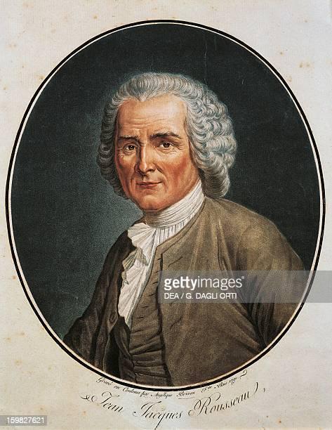 Portrait of JeanJacques Rousseau Swiss writer philosopher and musician Engraving of 1791 Geneva Bibliothèque Publique Et Universitaire