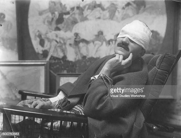 Portrait of JeanJulien Lemordant a Breton artist and French soldier and patriot who lost his eyesight during World War I early to mid 20th century