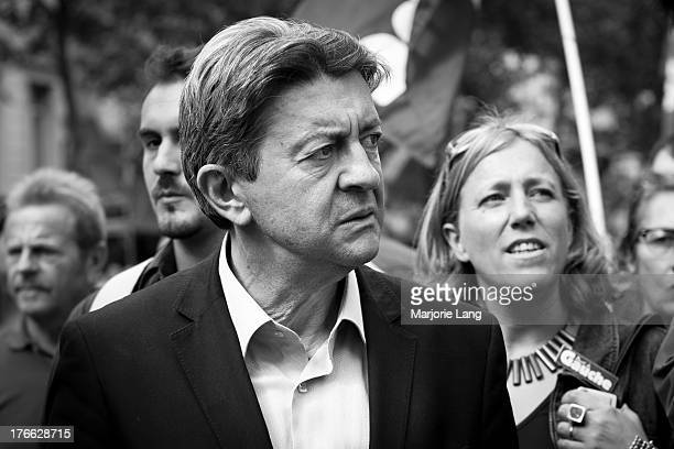 Portrait of Jean-Luc Mélenchon at a protest against Nicolas Sarkozy's pension reform on september 7th 2010 in Paris, France.
