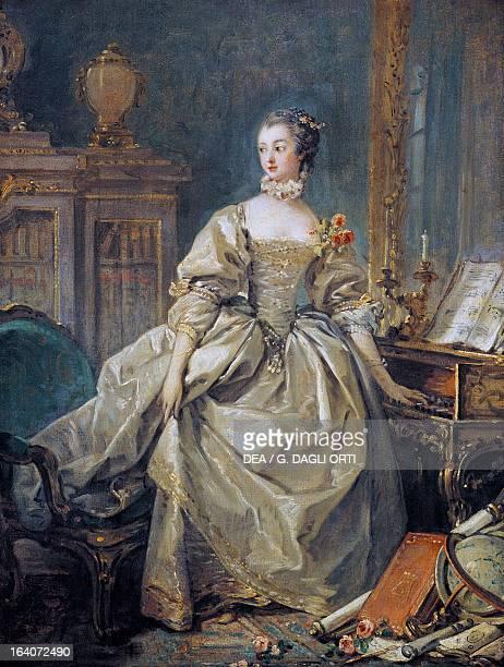 Portrait of JeanneAntoinette Poisson Marquise de Pompadour official chief mistress of Louis XV painting by Francois Boucher Paris Musée Du Louvre