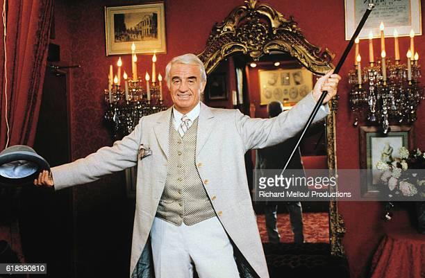 Portrait of JeanPaul Belmondo actor in the play by Feydeau