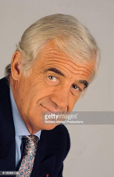 Portrait of Jean-Paul Belmondo.