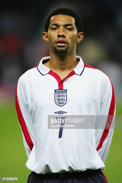 A portrait of Jermaine Pennant of England U21 during the UEFA European U21 Championship Qualifying match between England and Wales at Ewood Park on...