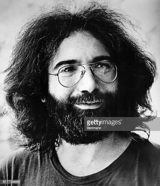 Portrait of Jerry Garcia guitarist and singer for the Grateful Dead rock group