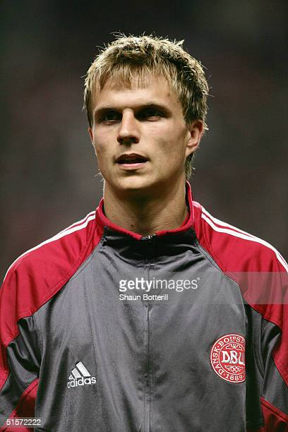 A portrait of Jesper Gronkjaer of Denmark prior to the 2006 World Cup Qualifier Group 2 match between Denmark and Turkey at the Parken Stadium on...