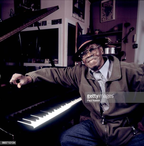 Portrait of Joe Willie 'Pinetop' Perkins at the Acme Recording Studios in Chicago Illinois February 3 2002