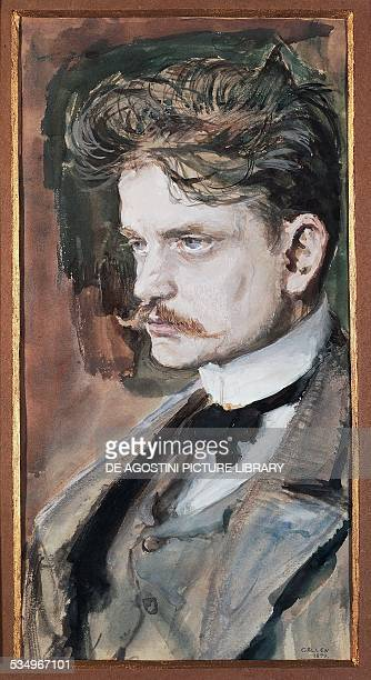 Portrait of Johan Christian Julius Sibelius known as Jean Sibelius Finnish composer and violinist painting by Akseli GallenKallela